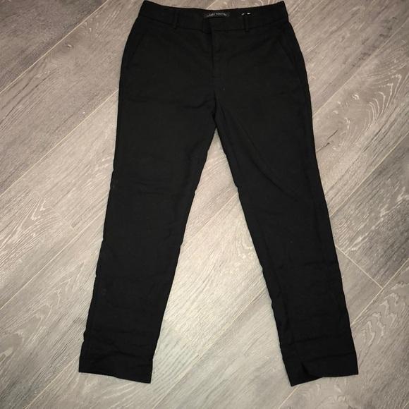 9eeac22e Zara Pants | Woman Black Ankle Trousers Size S | Poshmark